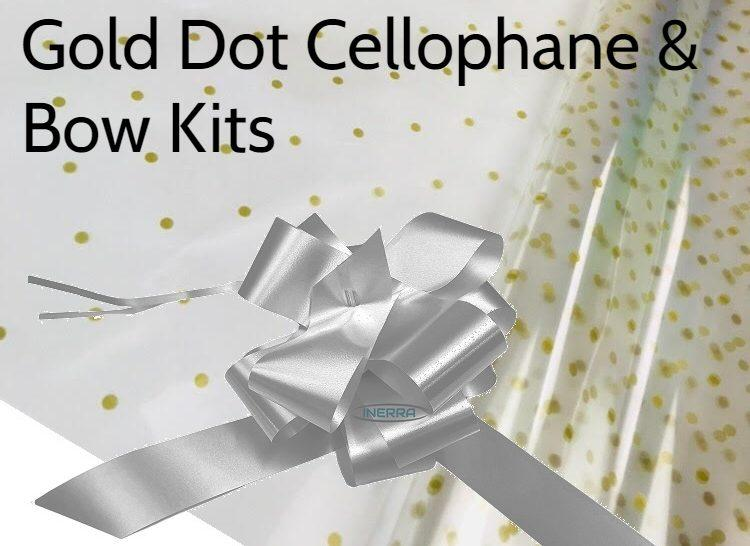 cellophane bow hamper wrapping kit basket christmas