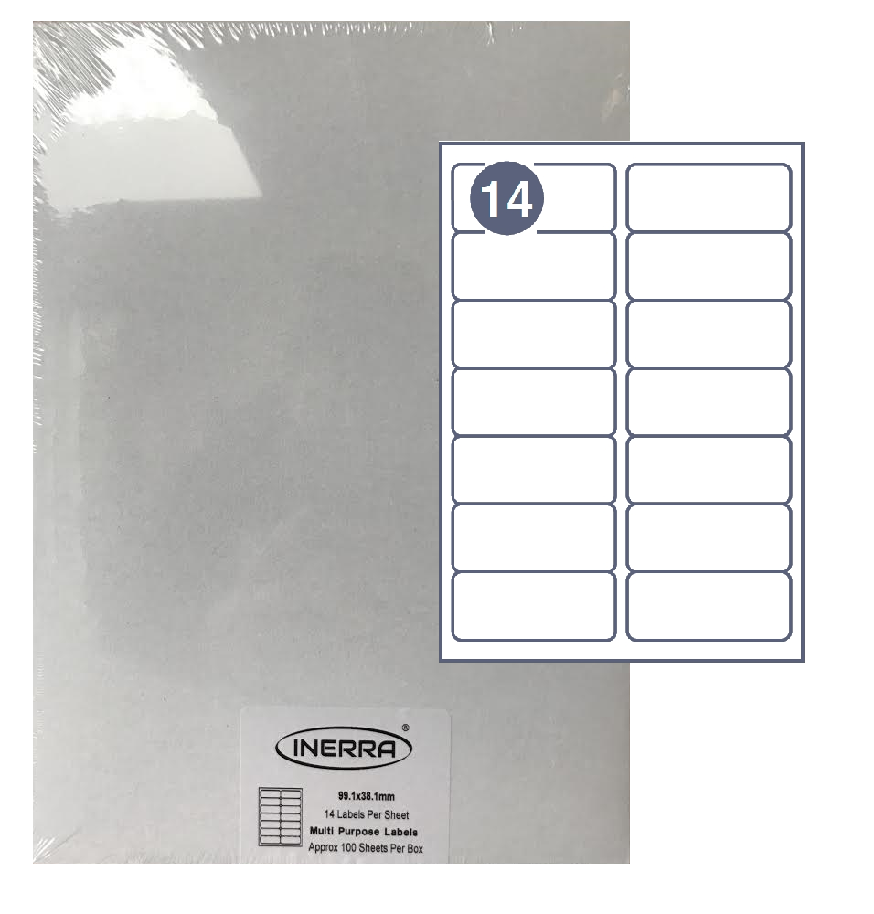 14 per sheet blank label template