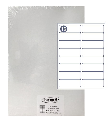 16 per sheet blank label template