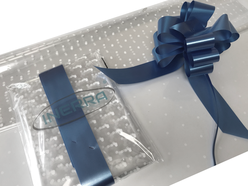 navy blue hamper wrapping kit gift basket christmas cellophane wrap and bow