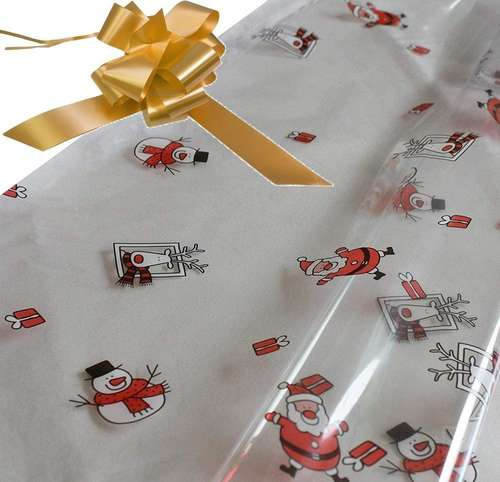gold hamper wrapping kit cellophane wrap santa
