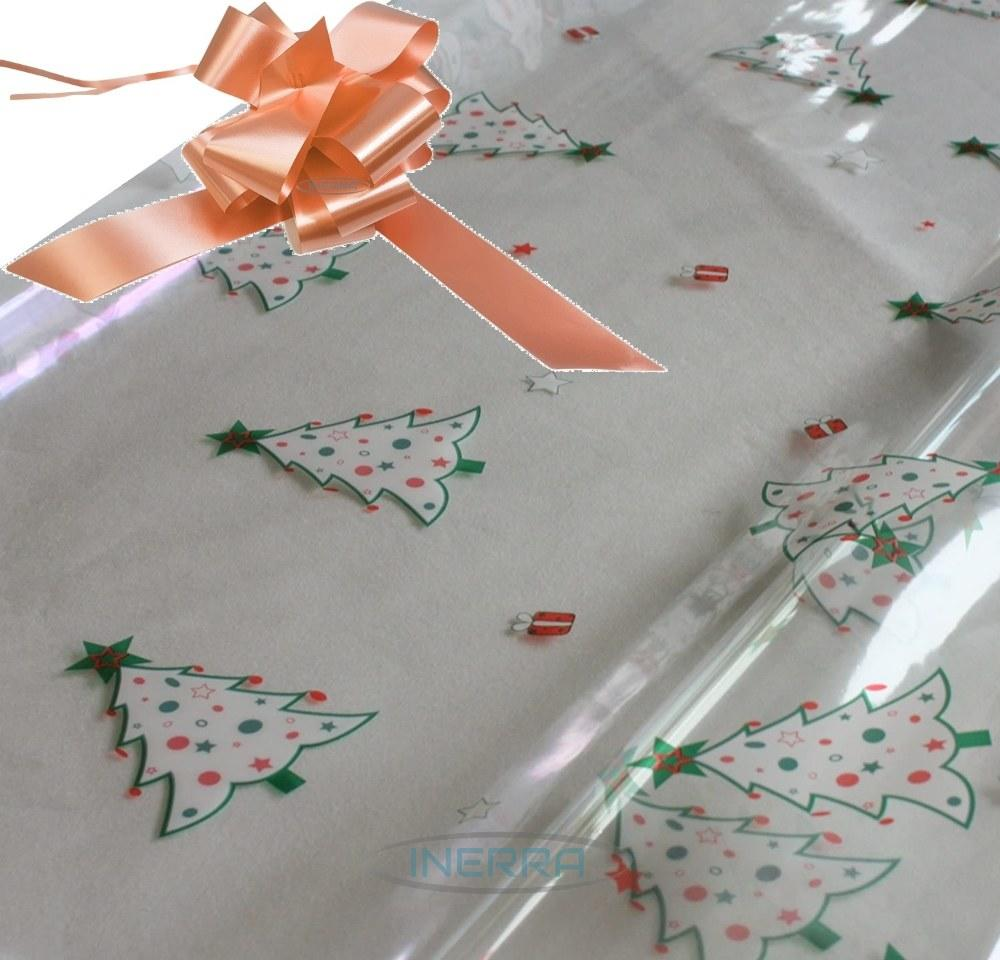 champagne hamper wrapping kit christmas trees cellophane wrap