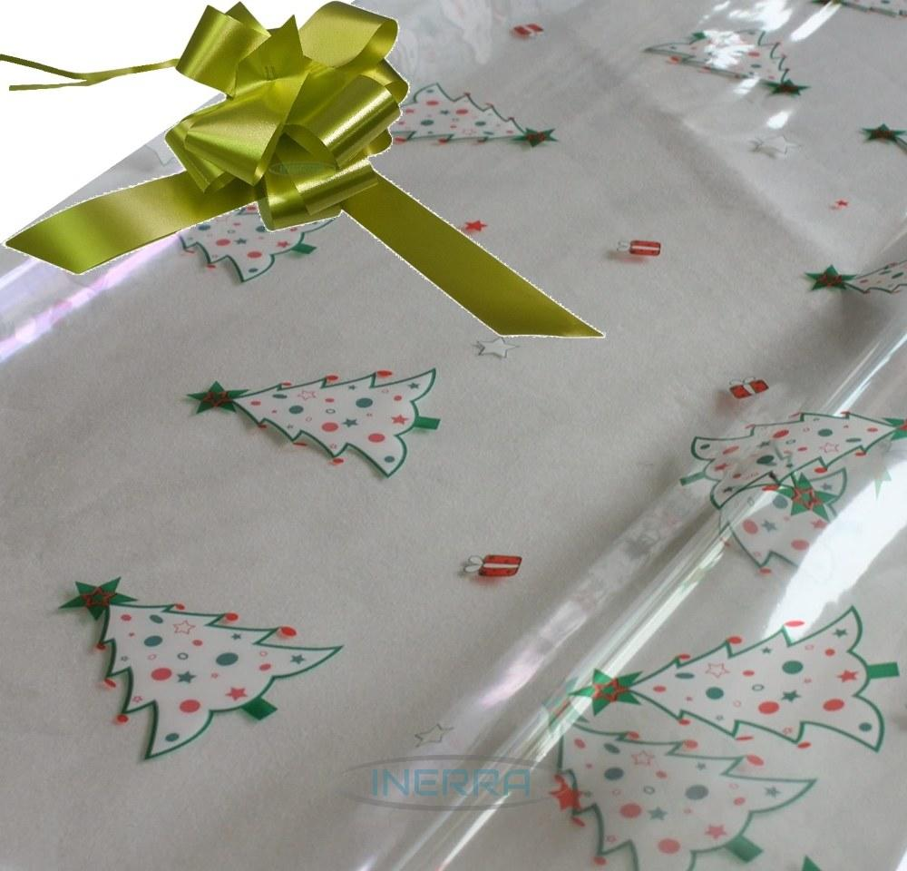 olive hamper wrapping kit christmas trees cellophane wrap