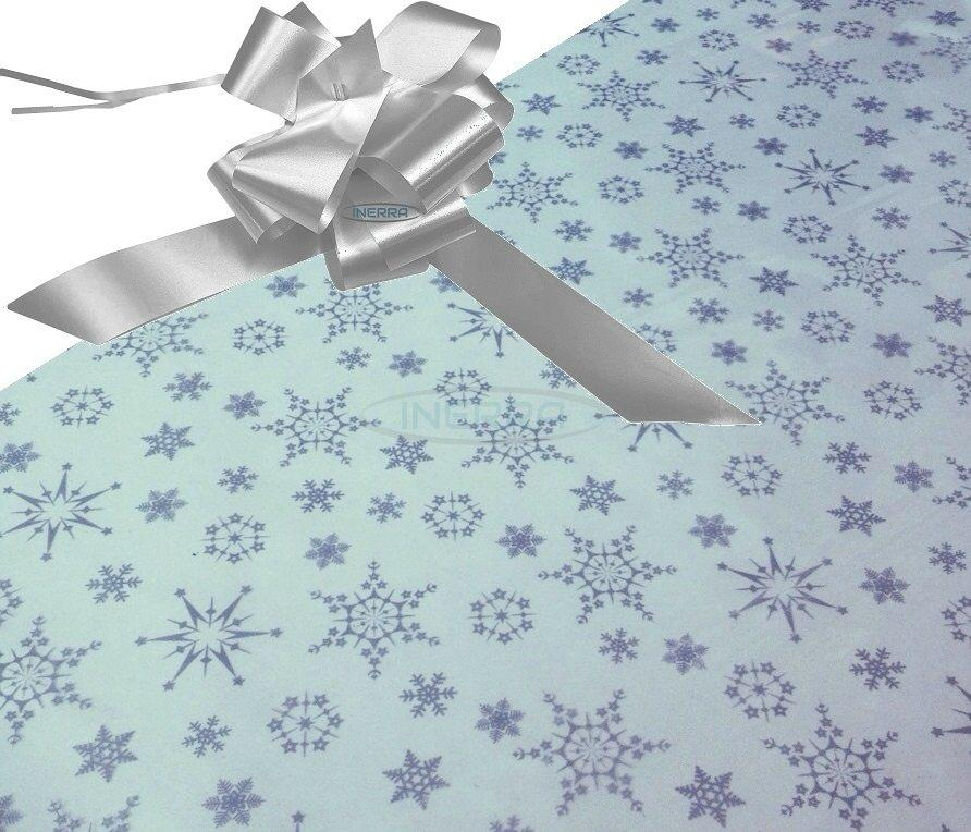 silver hamper wrapping kit cellophane bow christmas