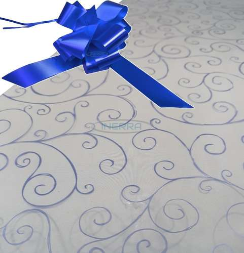 royal  blue hamper wrapping kit cellophane wrap bow