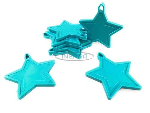 cyan star balloon weights