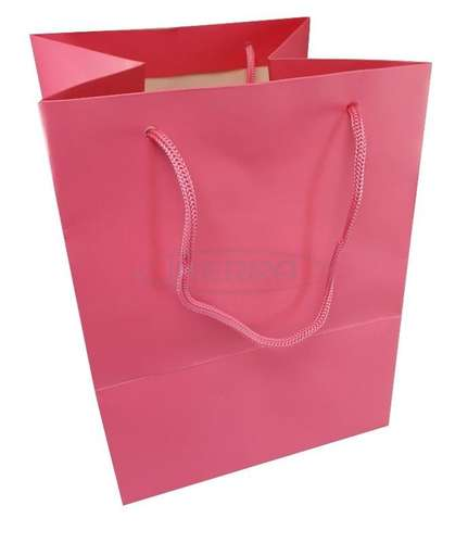 hot pink christmas gift bag rope handles