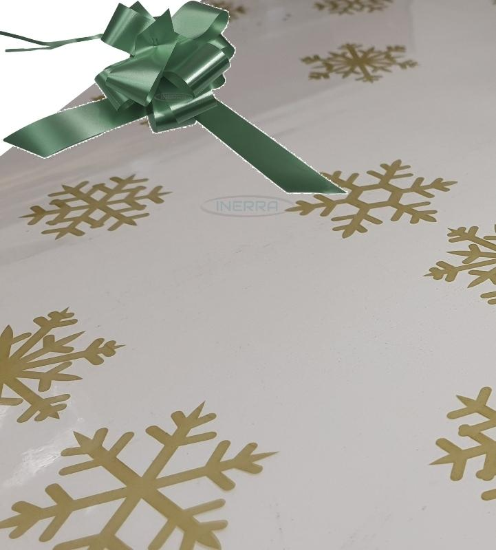 hunter green christmas cellophane wrap for hampers snowflakes bow