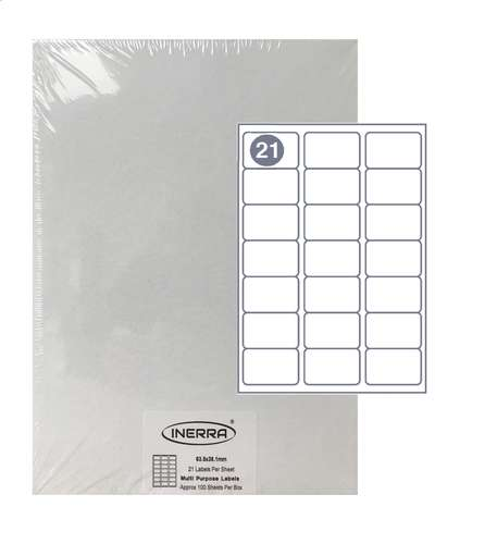 21 per sheet blank label template