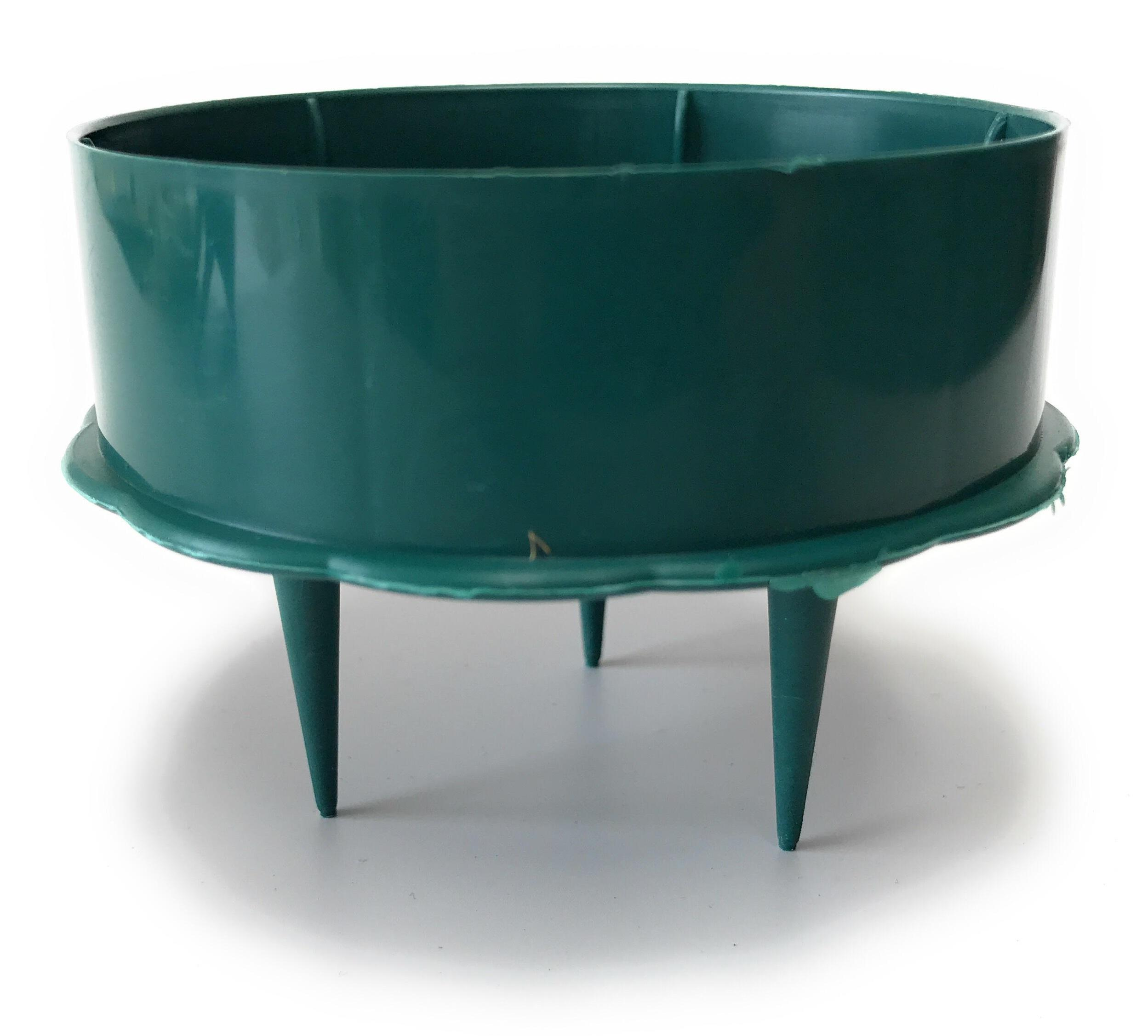 "3"" candle holder green for florist foam"
