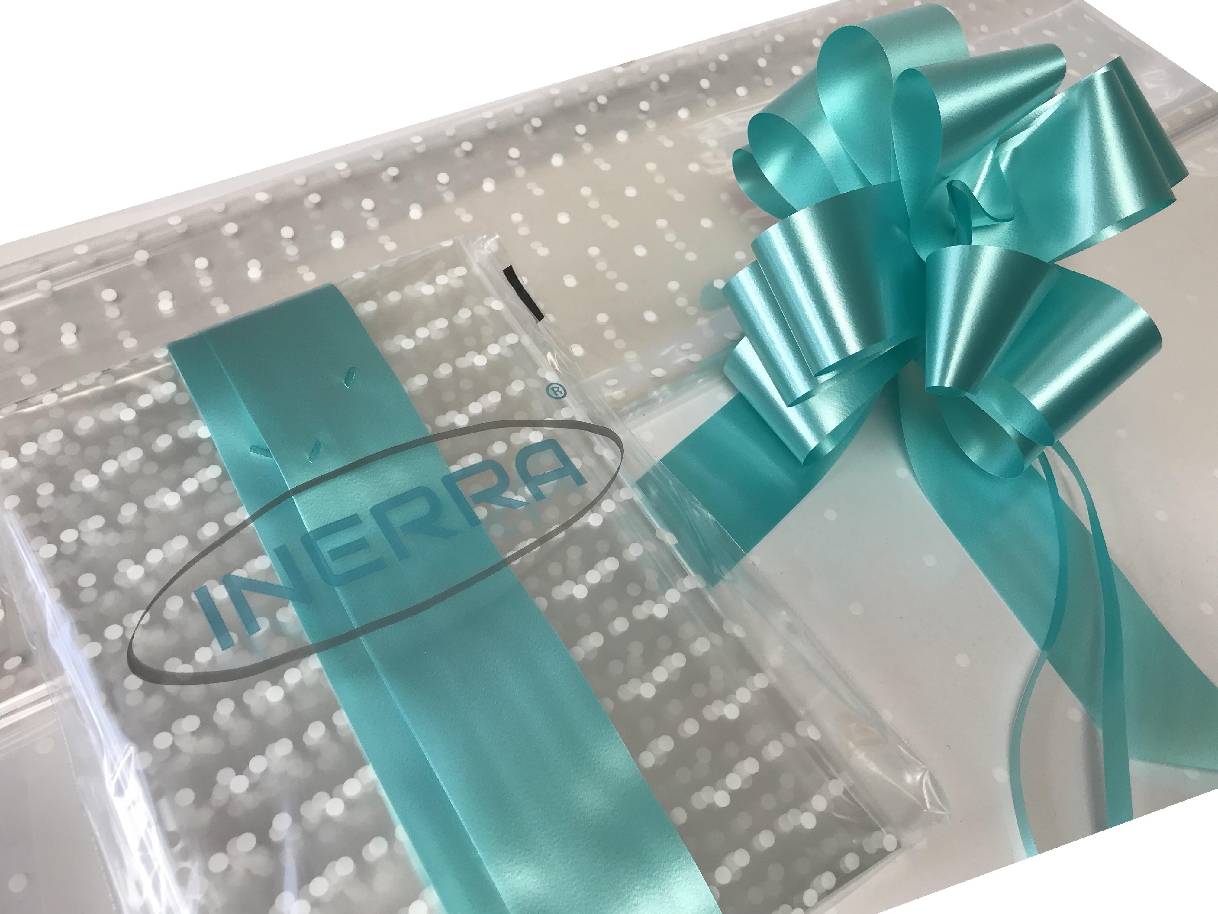 aqua hamper wrapping kit gift basket christmas cellophane wrap and bow