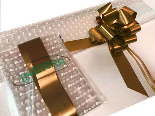 hamper wrapping kit gift basket christmas cellophane wrap and bow copper