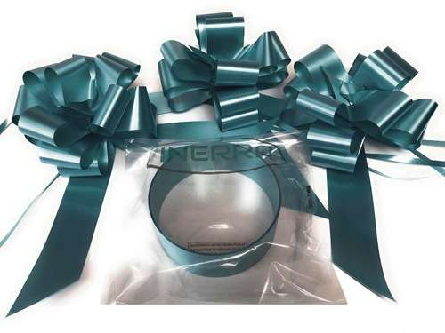 hunter green wedding car decoration kit ribbon and bows