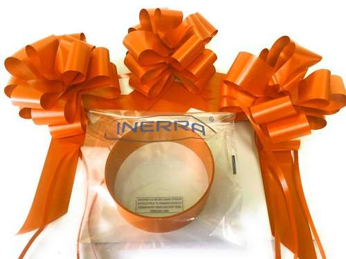 orange wedding car decoration kit ribbon and bows