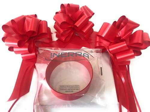 red wedding car decoration kit ribbon and bows