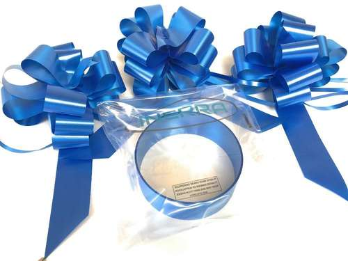 royal Blue wedding car decoration kit ribbon and bows