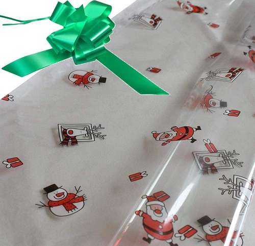 emerald green hamper wrapping kit cellophane wrap santa