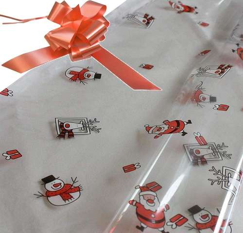 peach hamper wrapping kit cellophane wrap santa