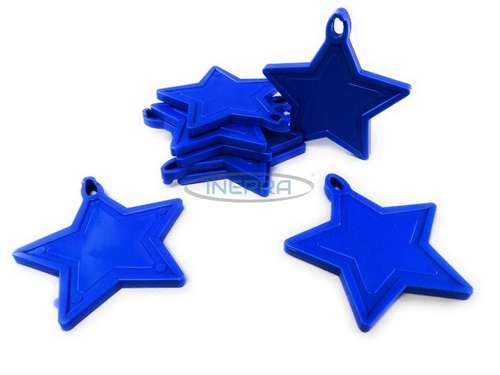 royal blue star balloon weights