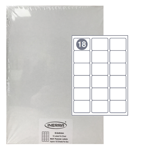 18 per sheet blank label template