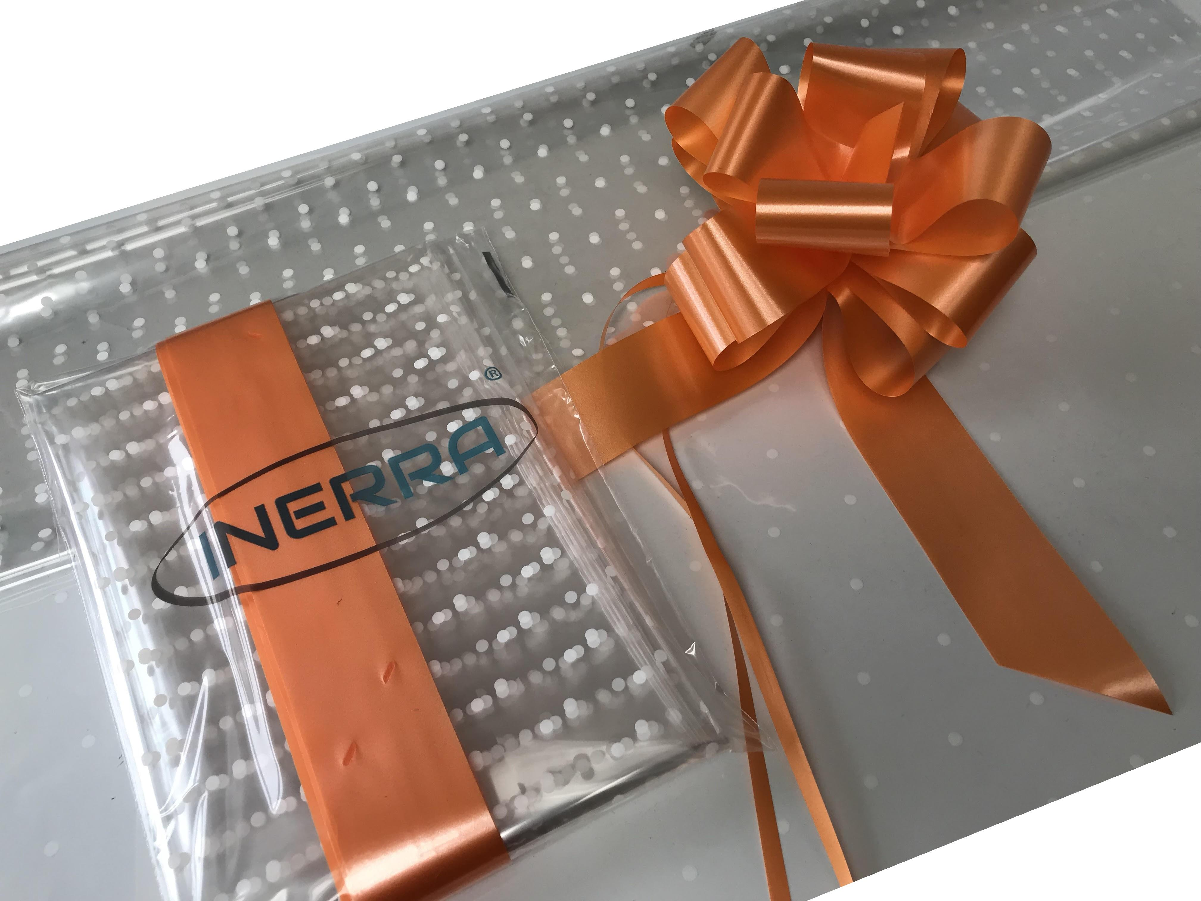 hamper wrapping kit gift basket christmas cellophane wrap and bow orange