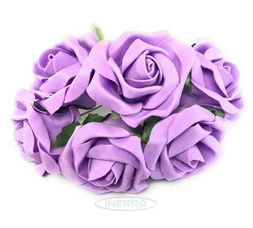 lilac colourfast foam roses