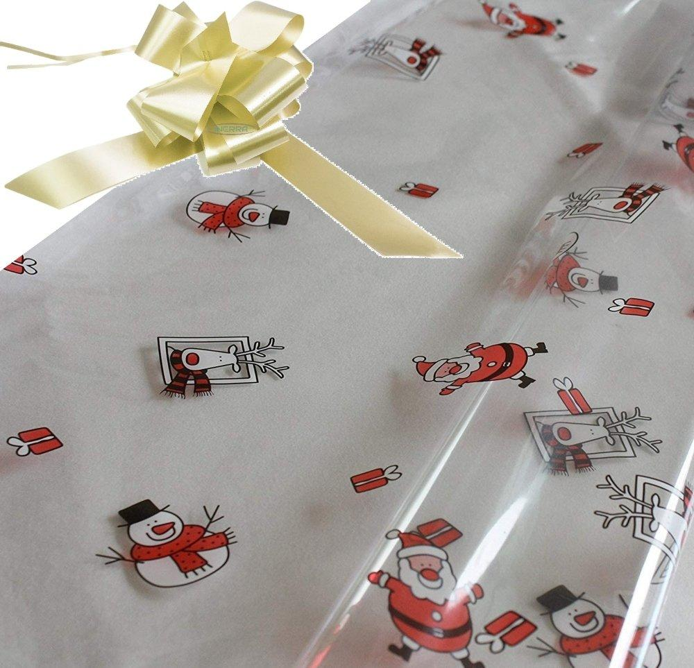 cream hamper wrapping kit cellophane wrap santa