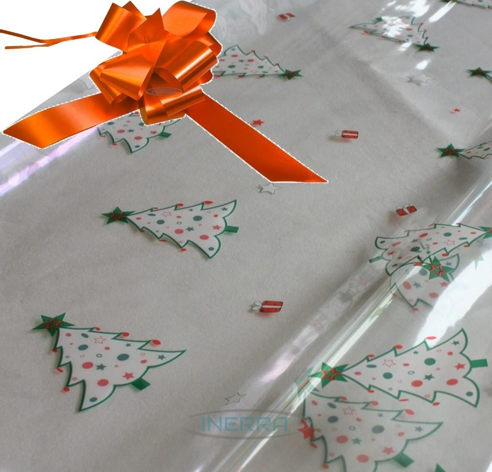 orange hamper wrapping kit christmas trees cellophane wrap