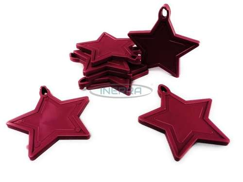 burgundy balloon weights star