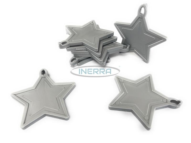 silver star balloon weights