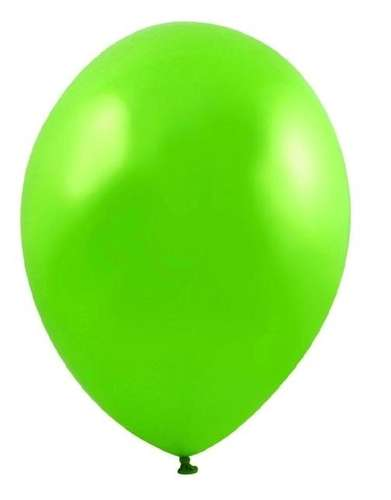 apple green metallic balloons