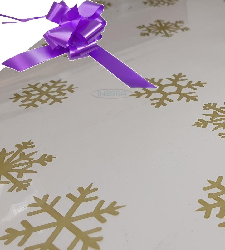 lilac christmas cellophane wrap for hampers snowflakes bow