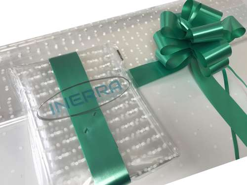emerald green hamper wrapping kit gift basket christmas cellophane wrap and bow