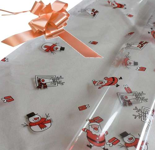 champagne hamper wrapping kit cellophane wrap santa