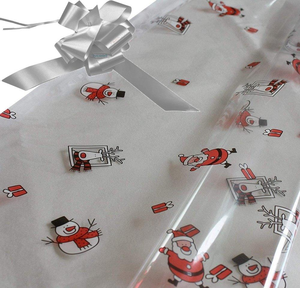 silver hamper wrapping kit cellophane wrap santa