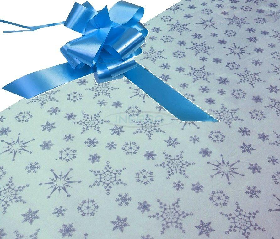 christmas hamper wrapping kit cellophane and bow baby blue