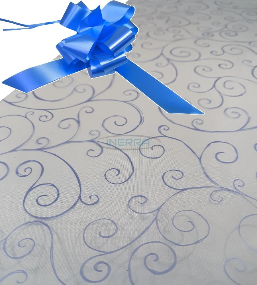 mid blue hamper wrapping kit cellophane wrap bow