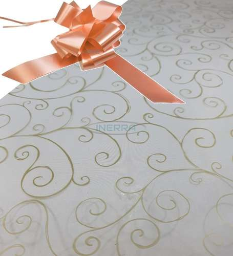 champagne  hamper wrap kit cellophane bow wrapping gold scroll