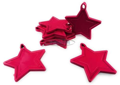 cerise star balloon weights