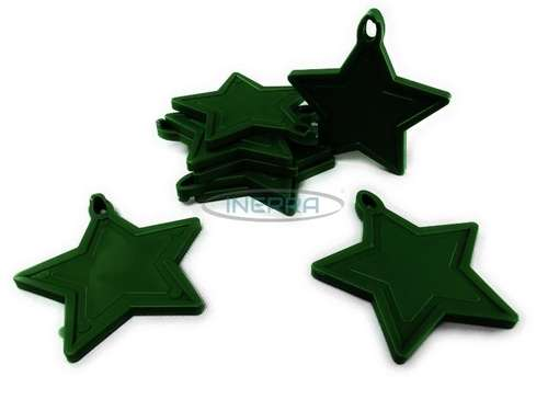 hunter green star balloon weights
