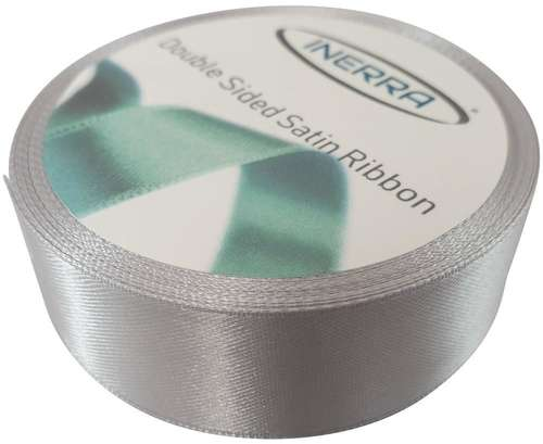 silver 25mm satin ribbon
