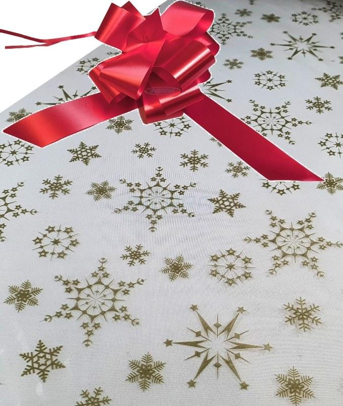 gold snowflakes cellophane and bow hamper wrap wrapping kit