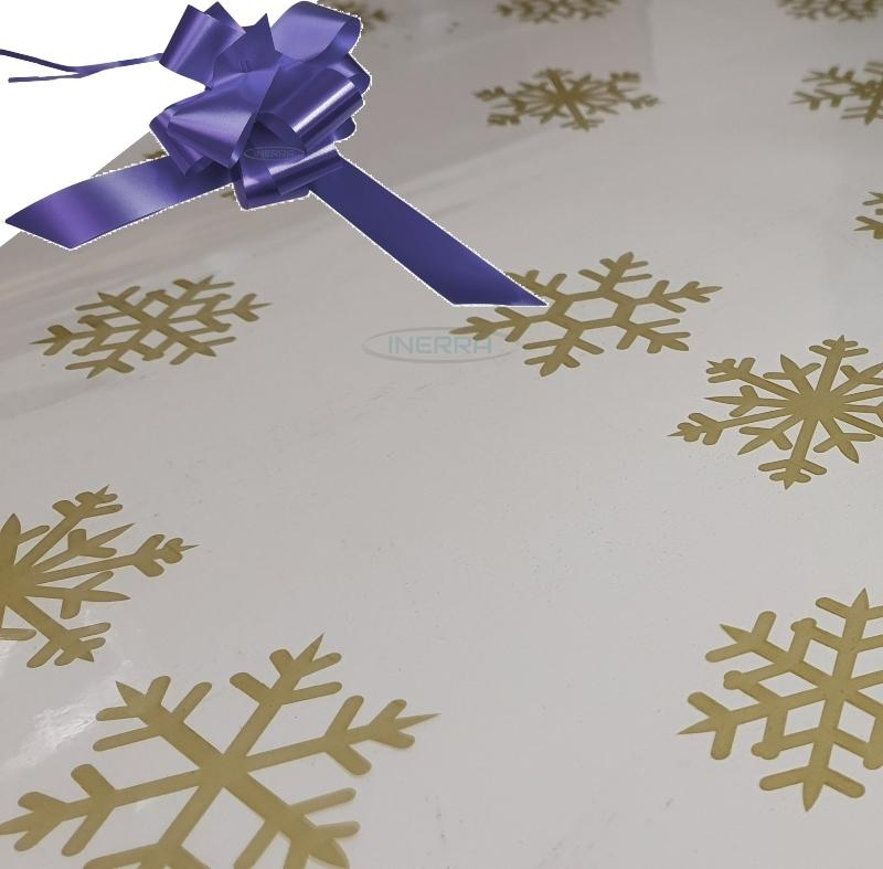 navy blue christmas cellophane wrap for hampers snowflakes bow