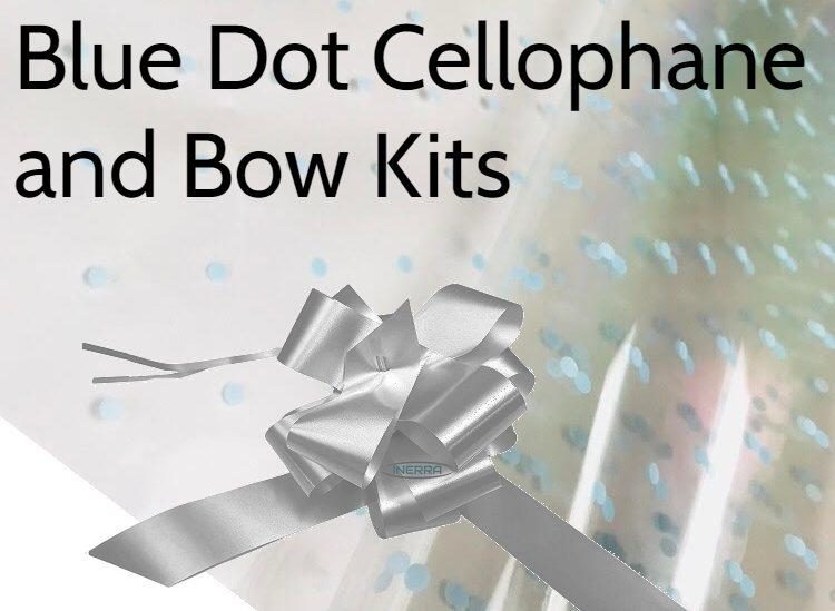 cellophane and bow hamper wrap