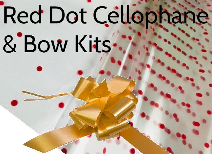 christmas cellophane bow hamper wrapping