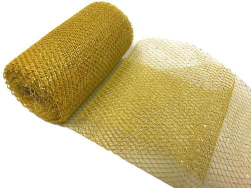 metallic tulle roll gold mesh deco christmas