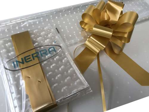 gold hamper wrapping kit gift basket christmas cellophane wrap and bow
