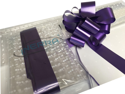 purple hamper wrapping kit gift basket christmas cellophane wrap and bow