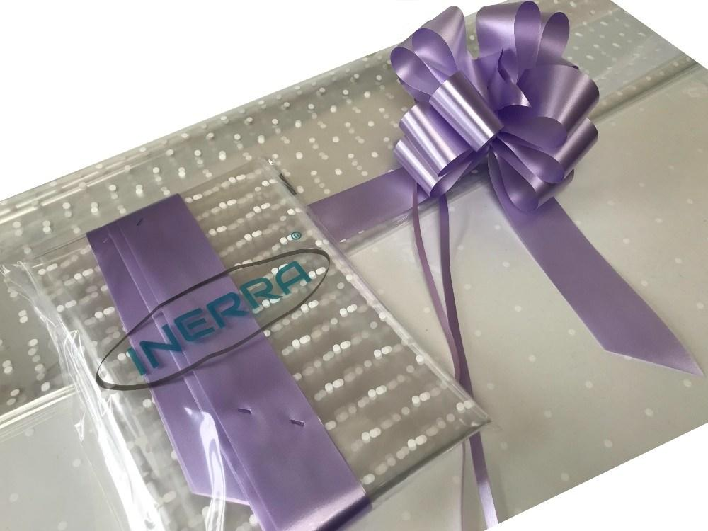 lilac hamper wrapping kit