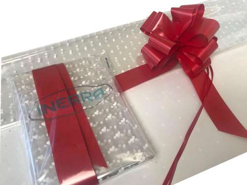 red hamper wrapping kit
